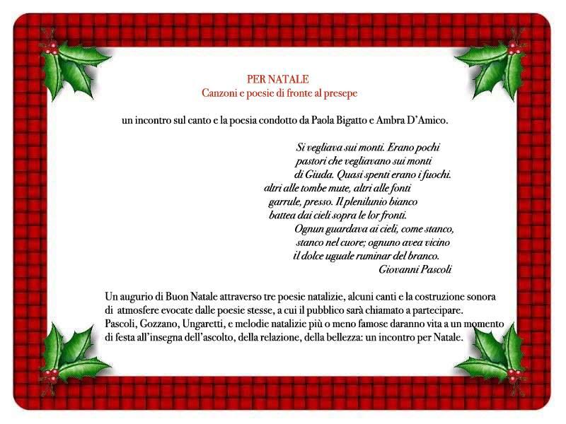 Auguri Di Buon Natale Canzone Testo.Per Natale Canzoni E Poesie Di Fronte Al Presepe La Bottega Dello Sguardo